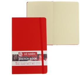 Блокнот для рисунков А5, 140 г/м², Royal Talens, 130 х 210, 80 листов, твёрдая обложка, красный