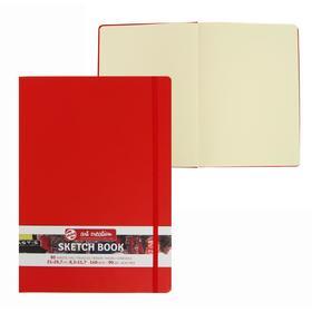Блокнот для рисунков А4, 140 г/м², Royal Talens, 80 листов, твёрдая обложка, красный