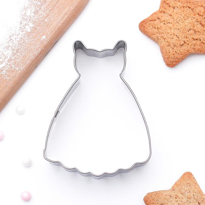 """Форма для вырезания печенья 6,5x5,2x2 см """"Платье принцессы"""""""