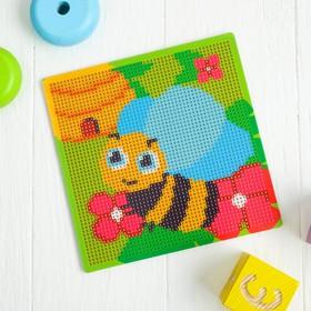 """Алмазная мозаика для детей """"Пчелка"""" + емкость, стерж, клеев подушечка"""