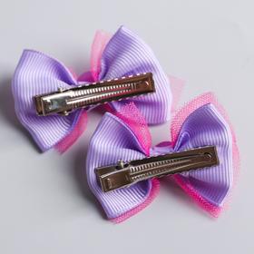 A set of children: hairpins, bows, lilac, fairies VINKS, 2 pcs.