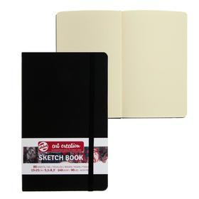 Блокнот для рисунков А5, 140 г/м², Royal Talens, 130 х 210, 80 листов, твёрдая обложка, чёрный