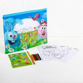 Развивающий набор в PVC папке с наклейками «Друзья», СМЕШАРИКИ