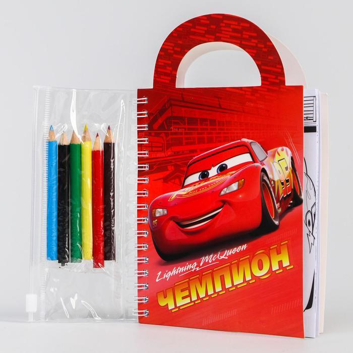 Блокнот-сумочка с раскраской, Тачки, 45 листов, А6