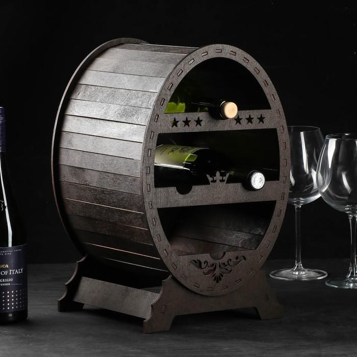 """Мини-бар деревянный """"Брутал-премиум"""", на 4 бутылки, 37 х 25 х 25 см"""