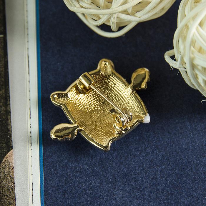 """Брошь """"Хрюшка"""" с крылышками, цветная в золоте - фото 306782331"""