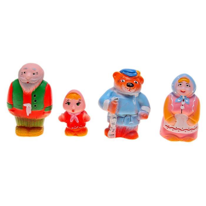 """Набор резиновых игрушек """"Машенька и Медведь"""""""