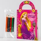 """Блокнот-сумочка с раскраской """"Милой Принцессе"""", Принцессе, 45 листов, А6"""