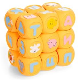 Набор резиновых кубиков «Весёлая азбука», 18 штук