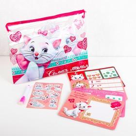 Развивающий набор в PVC папке с наклейками, Коты аристократы