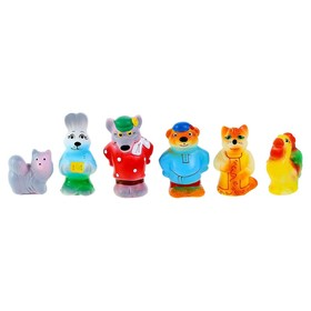 A set of rubber toys