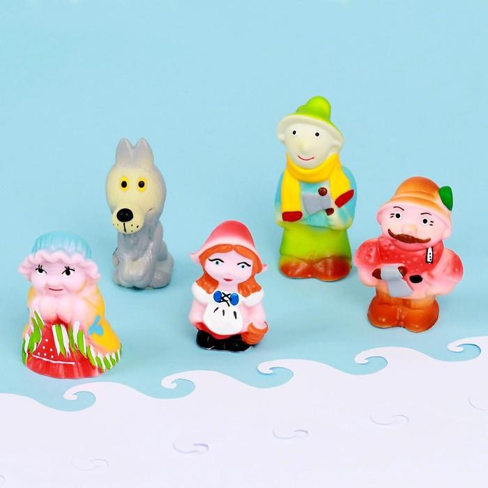 Набор резиновых игрушек «Красная шапочка»