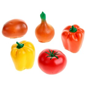 Набор резиновых игрушек «Овощи», МИКС