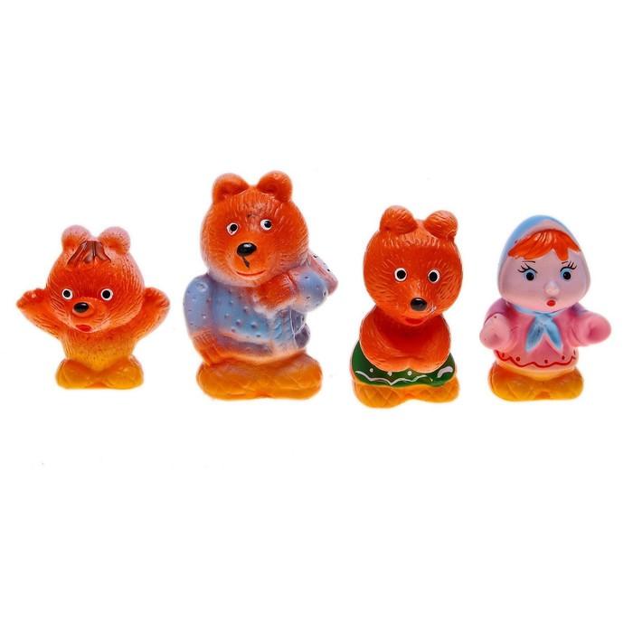Набор резиновых игрушек «Три медведя» - фото 106527925