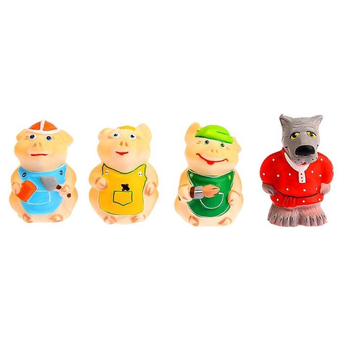 Набор резиновых игрушек «Три поросёнка» - фото 105536801