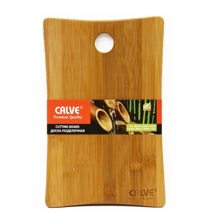 Разделочная доска из бамбука, 305×192×9 мм