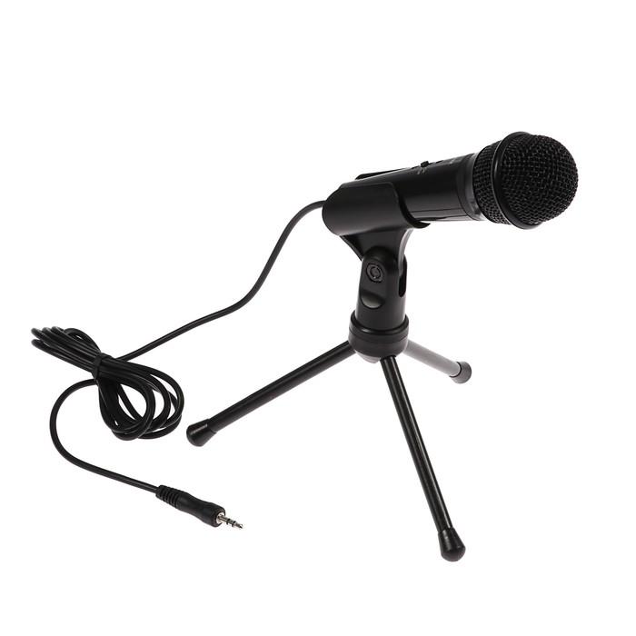 Микрофон RITMIX RDM-120, 3.5 мм, 30 дБ, 2,2 кОм, 1.8 м, черный