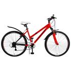 """Велосипед 26"""" Forward Iris 26 1.0, 2018, цвет красный/синий, размер 17"""""""