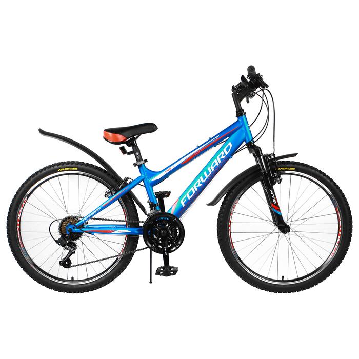 """Велосипед 24"""" Forward Titan 2.1, 2018, цвет синий/матовый, размер 13"""""""