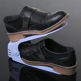 Подставка для хранения обуви регулируемая, 26×10×6 см цвет сиреневый - фото 4643538