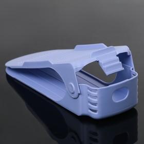 Подставка для хранения обуви регулируемая, 26×10×6 см цвет сиреневый - фото 4643540