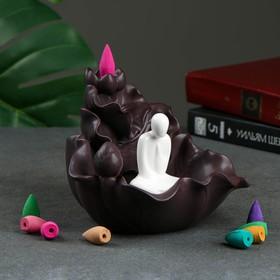 "Incense stand ""Sage on the Lotus flower,"" the fragrance of sandalwood, 13 × 14 × 16 cm"