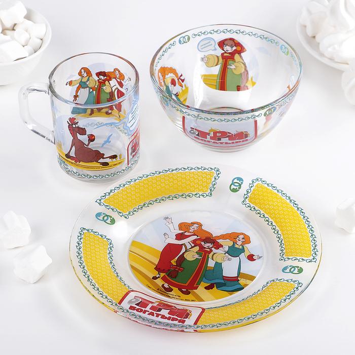 """Набор посуды детский """"Три богатыря. Царевны"""""""