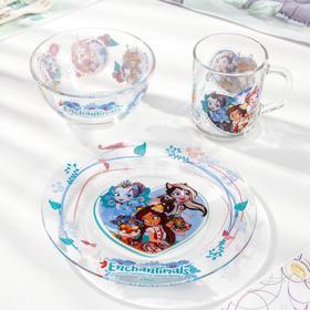 Набор посуды детский «Энчантималс», 3 предмета