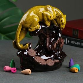 "Благовоние на подставке ""Леопард"", аромат сандалового дерева, 10 × 15 × 18 см"