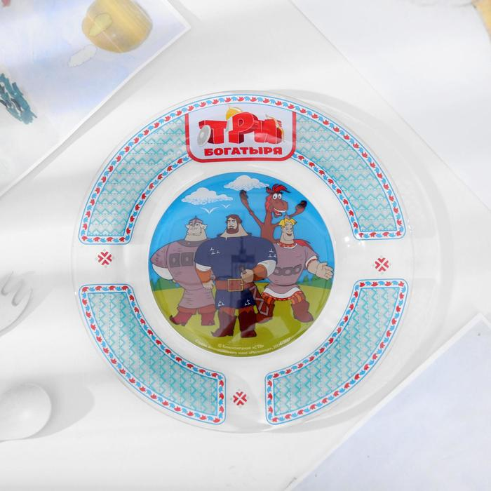 """Набор посуды детский """"Три богатыря"""", 3 предмета"""