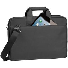 """Сумка для ноутбука 15,6"""" RivaCase 8231, 38,5*26,5*4,5см, полиэстер, черный 231938"""