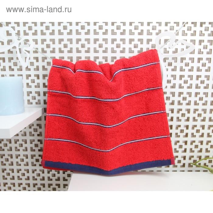 Полотенце махровое Марко Поло 32х72 см, цвет красный, 410 гр/м2
