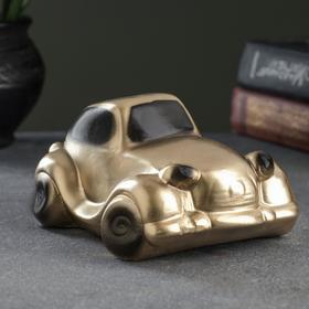 "Копилка ""Машина"" золотая малая 13х8см"