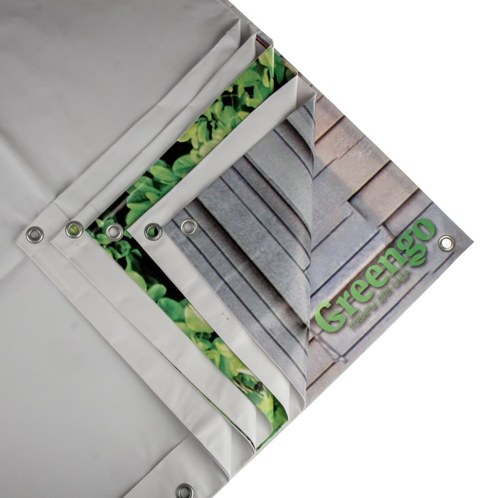 Фотобаннер, 300 × 160 см, с фотопечатью, «Серая стена»