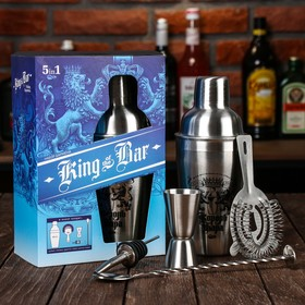 "Set for cocktails, ""King's bar"", a geyser, a jigger, a shaker Cup 600 ml, strainer, spoon"