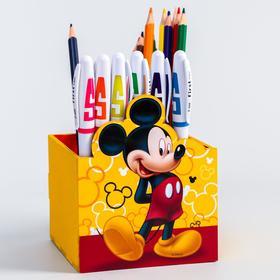 """Органайзер для канцелярии """"Микки"""", 100 х 100 х 80, Disney"""