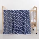 Плед «Звездопад» цвет синий 80×100 см, пл. 210 г/м², 100% п/э