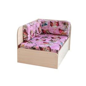 """Тахта """"Непал-Вырастайка"""", ткань Феи розовые/Молочный дуб (угол правый) в Донецке"""