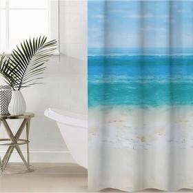 Штора для ванной комнаты Доляна «Прибой», 180×180 см, EVA