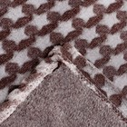Плед «Звездопад» цвет шоколад 130×160 см, пл. 210 г/м², 100% п/э - фото 105560218