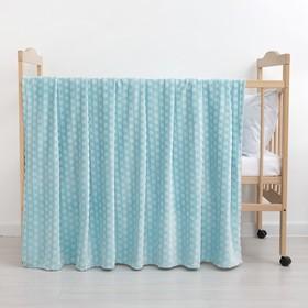 Плед «Звездочки» цвет мятный 160×200 см, пл. 210 г/м², 100% п/э