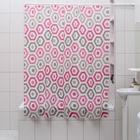 """Штора для ванной 180×180 см """"Шестигранник"""", EVA"""