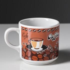 """Кружка """"Телесик"""" кофе, деколь, 0,22 л, микс"""
