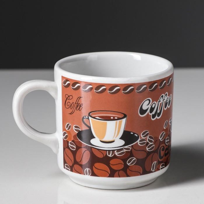 """Кружка 0,22 л """"Телесик"""" кофе, деколь"""