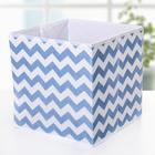 Короб для хранения «Зигзаг», 25×25×25 см, цвет синий - фото 308331974