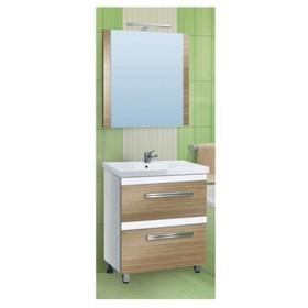 """Зеркало """"Сафари 70х80"""" Зебрано светлое арт.13893"""