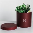 Подарочная коробка круглая, цвет бордовый, 20 × 20 х 20 см