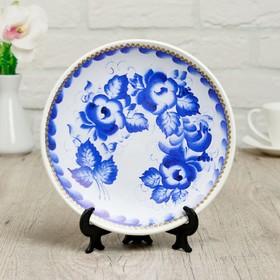 Тарелка декоративная «Гжель», D = 19,5 см