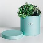 Подарочная коробка круглая «Бабочки», 20 × 20 х 20 см