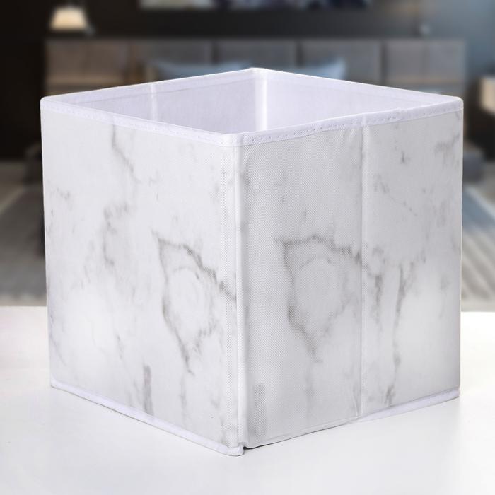 "Короб для хранения 25×25×25 см ""Мрамор"""